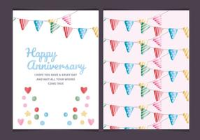 Cartão colorido do aniversário do vetor