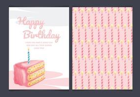 Carta di torta di compleanno vettoriale