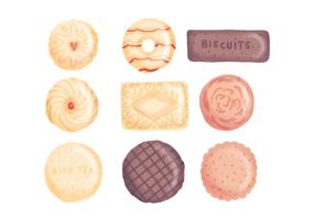 Biscuits dessinés à main vecteur