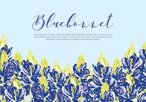Bluebonnet Vector Background
