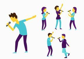 Vector personas cantando