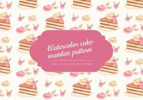 Vector Aquarell Kuchen Nahtlose Muster