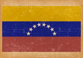 Grunge Flagga av Venzuela