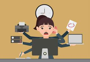 Multitasking Deadline Gratis Vector