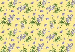 Bluebonnet Flower Pattern vecteur