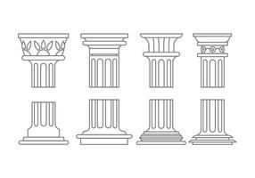 Römische Spalte Icons