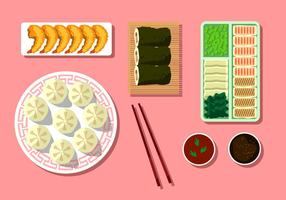 Shrimp Dumplings Free Vector