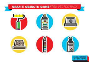Pacchetto Grafiti Objects Free Vector