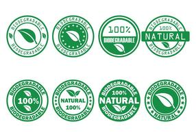 Biodegradable Vector Stamp