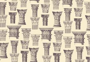 Corinthische Patroon Klassieke Vector
