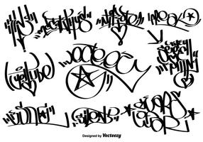 Vector Graffiti Etiquetas