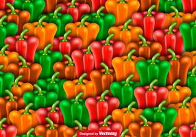 Vector Seamless Pattern Of Peppers