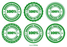 Eco, Natural and Biodegradable Badge Collection