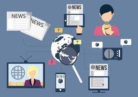 Rede de mídia vetor