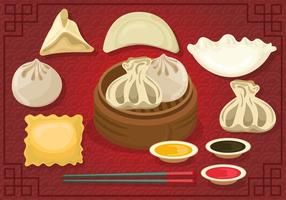 Set Of Delicious Dumplings