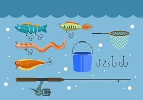 Icônes de vecteur de pêche gratuite