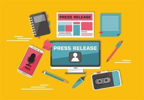 Arte de vetor de imprensa