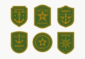 Collection de badge du Corps de la Marine