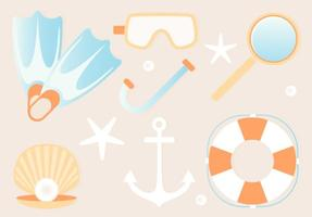 Free Summer Beach Elements Background