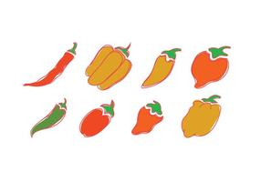 Iconos vectoriales de habanero