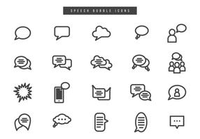 Free Speech Bubble Vectors