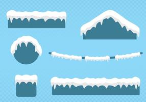 Snow On The Roof vector