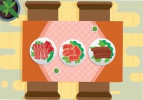 Free Charcuterie View From Top Illustration