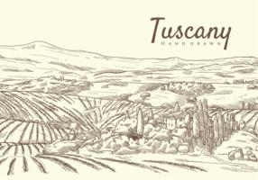 Vrije Hand Getekende Toscane Vectoren