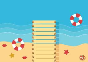 Boardwalk Background Vector