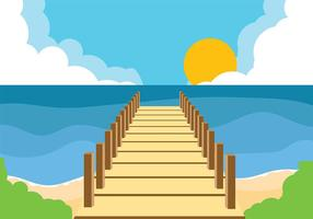 Boardwalk Background Vector