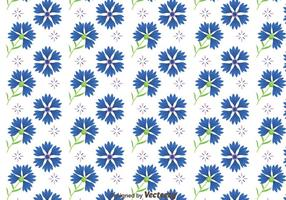 Bluebonnet Blumen Muster Vektor