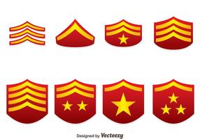 Rode Militaire Rank Emblem Vectoren