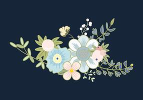 Vector de ramo de flores