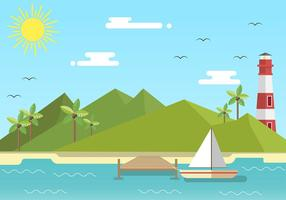 Boardwalk flat free vector