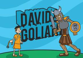 David en goliath vector illustratie