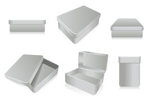 3D Caja de Tin Vector