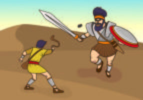 Vectorillustratie Van David En Goliath