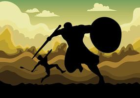 David et Goliath Vector Background