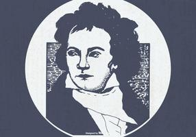 Vintage illustration av Beethoven