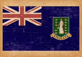 Oude Grunge Vlag van Britse Maagdeneilanden