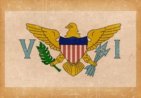 Old Grunge Flag of US Virgin Islands