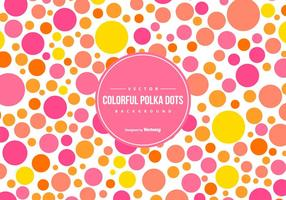 Cute Colorful Polka Dot Backgound vector