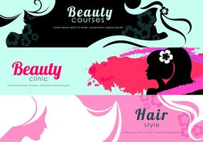 Beauty Flyer Banner Vectoren