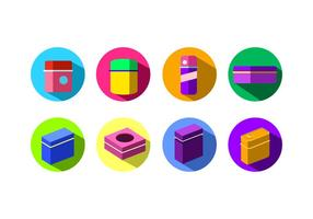 Flat Icon Tin Box Free Vector