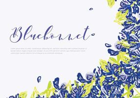 Bluebonnet Invitation Card Vector