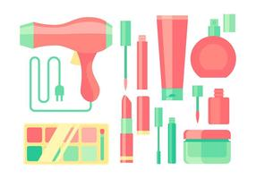 Make-up apparatuur Gratis Vector