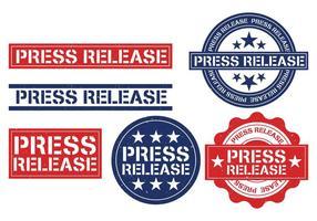 Vector de selo de lançamento de imprensa
