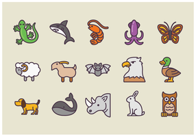 Pack van Animal Icons Vectors