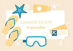 Free Summer Vacation Background vector