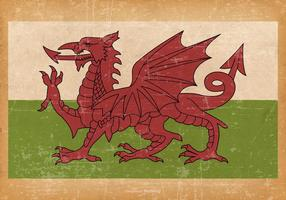 Antiga bandeira grunge da Gales